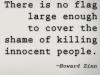howard zinn on flags and killings