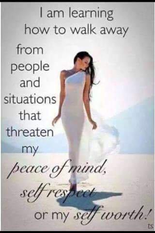 walking away from negative people