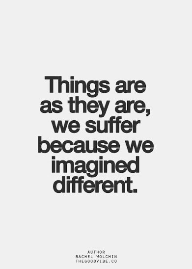 we suffer for our imagination