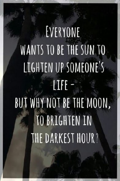 why not be the moon