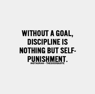 without a goal discipline is punishment