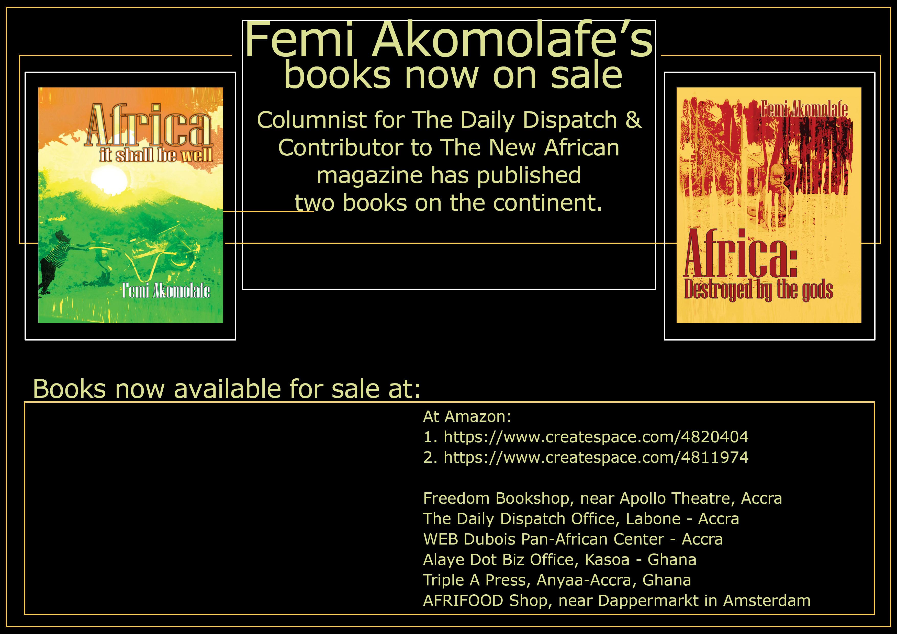 Reviews of  Femi Akomolafe's 2 Books